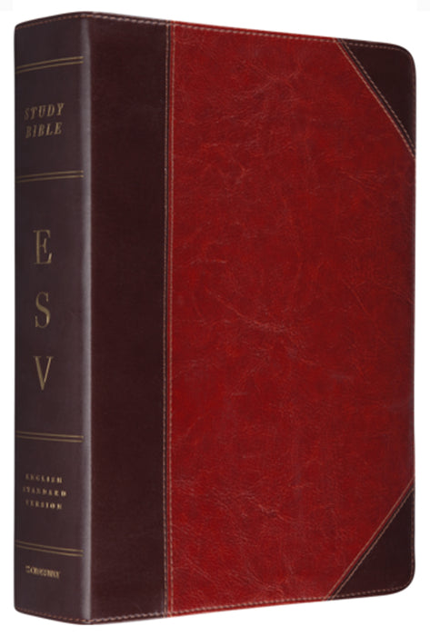 ESV Study Bible - Brown/Cordovan TruTone, Indexed