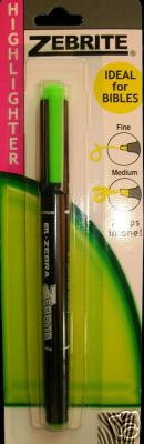 Zebrite Double Ended Highlighter - Green