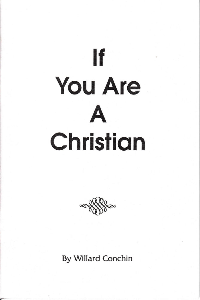 If You Are a Christian
