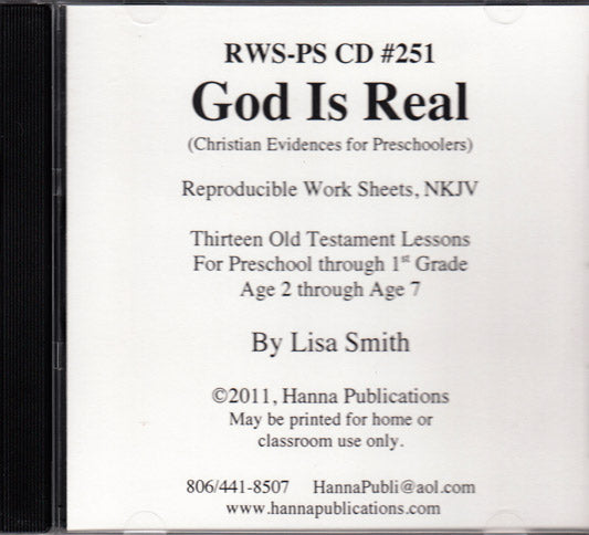 God Is Real CD (Evidences for Preschoolers)