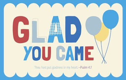 Postcard Glad You Came