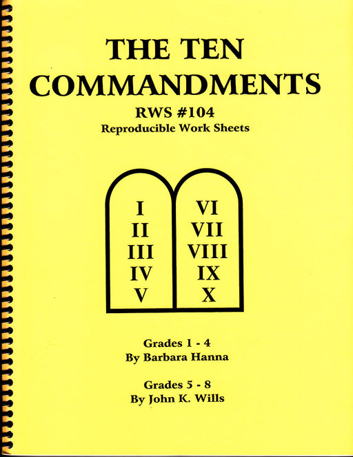 The Ten Commandments OT Bible lessons