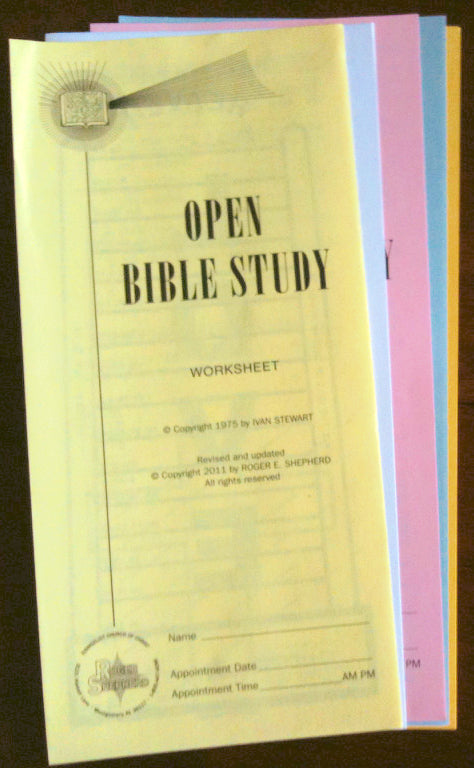 Open Bible Study Correspondence Course Set