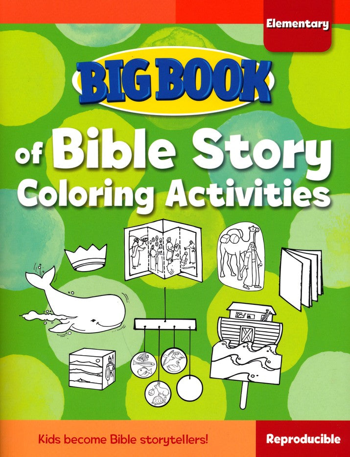 Big Book of Bible Story Coloring Activities for Elementary Kids