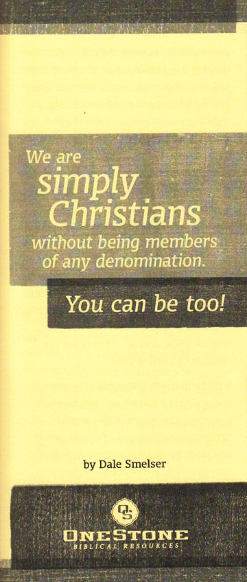 We are Simply Christians Tract