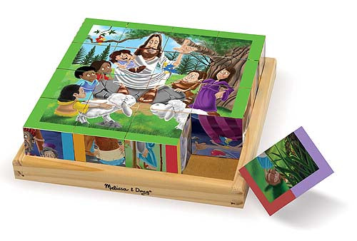 Wooden Cube Puzzle New Testament