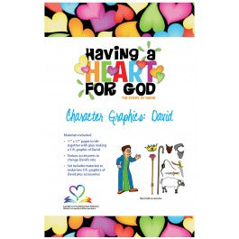 Having A Heart for God - Character Graphics, David