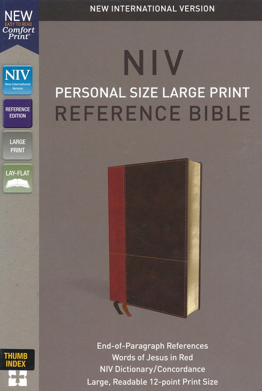 NIV Personal Size Large Print Reference Bible Leathersoft, Indexed