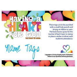 Having A Heart for God - Name Tags
