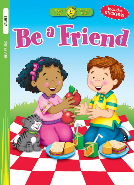 Be a Friend Coloring Book & Stickers