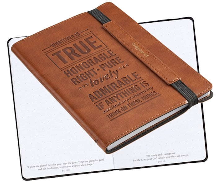 Bullet Journal: Whatever is Truth Brown LuxLeather