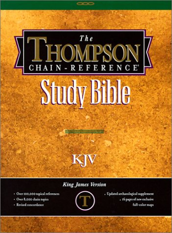 KJV Thompson Chain Reference - Burgundy Bonded Leather Indexed