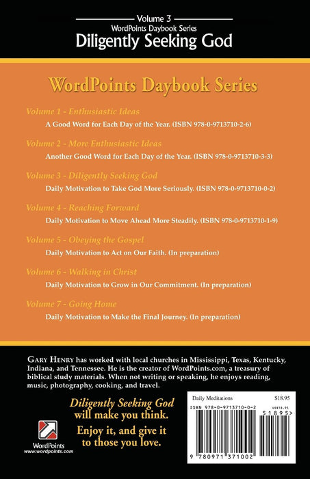 Diligently Seeking God: WordPoints Daybook Series, Volume 3