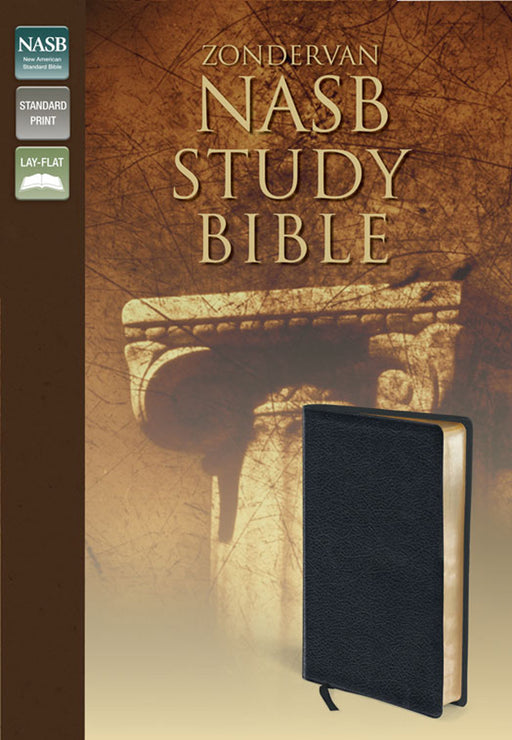 NAS Study Bible - Black Bonded Leather