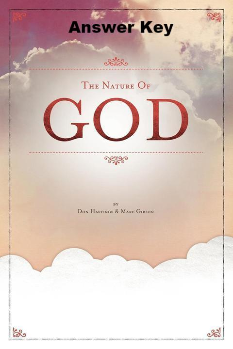 The Nature Of God - Downloadable Answer Key PDF