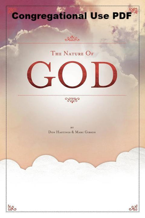The Nature of God - Downloadable Congregational Use PDF