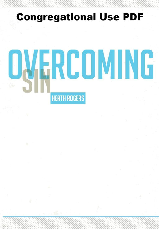 Overcoming Sin - Downloadable Congregational Use PDF