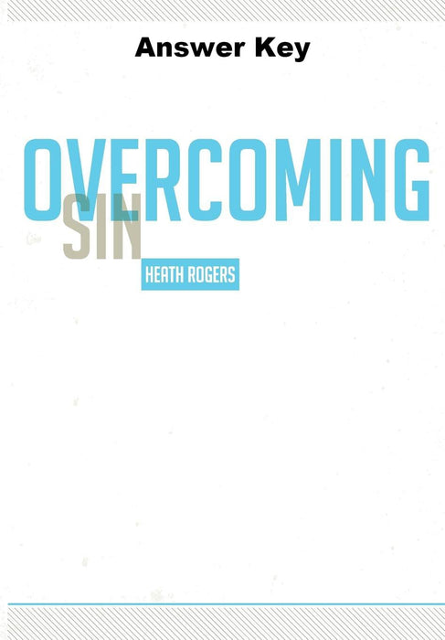 Overcoming Sin - Downloadable Answer Key PDF