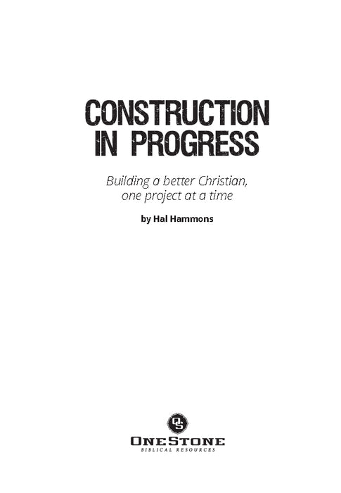 Construction In Progress - Downloadable Congregational Use PDF