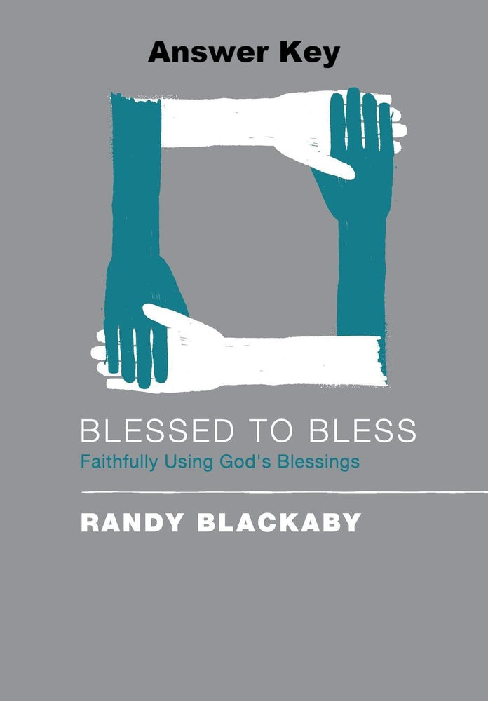 Blessed To Bless - Downloadable Answer Key PDF