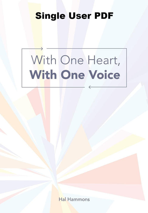 With One Heart, with One Voice - Downloadable Single User PDF