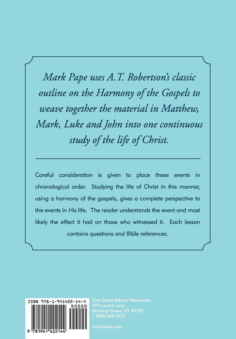 A Harmony of the Gospels - Downloadable Congregational Use PDF