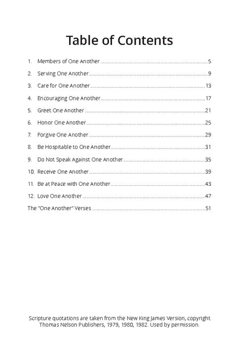 One Another Christianity Workbook - Downloadable Single User PDF