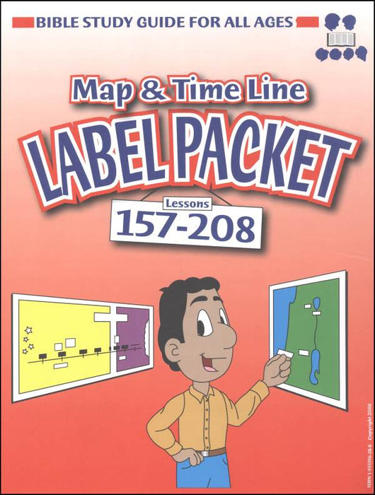 Bible Study Guide for All Ages Label Packet for Maps and Timelines Lessons 157-208