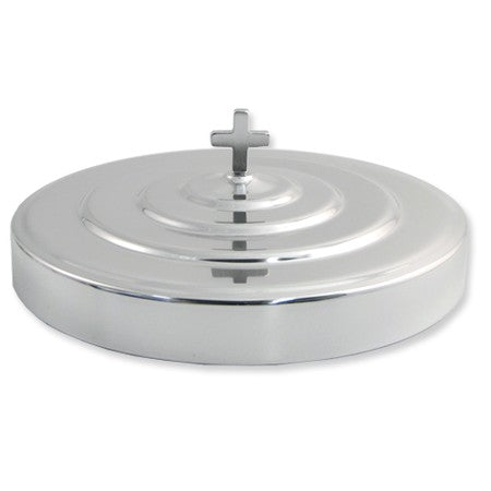 Silvertone Aluminum Communion Tray Cover - Cross