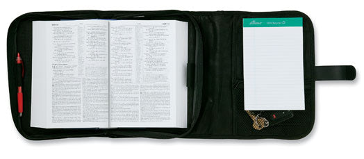 Tri-Fold Organizer Bible Cover - Black XXL