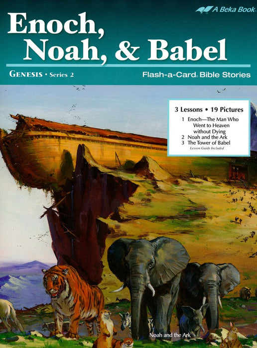Enoch, Noah, and  Babel Abeka Flash-A-Card