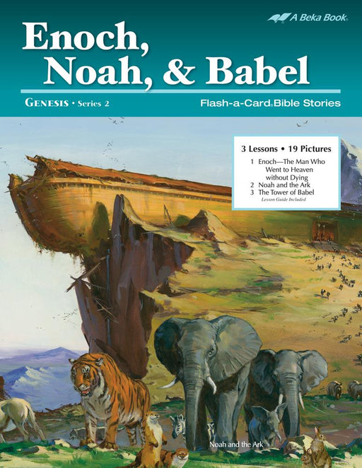 Enoch, Noah, & Babel Abeka Flash-A-Card Bible Stories - Book Format