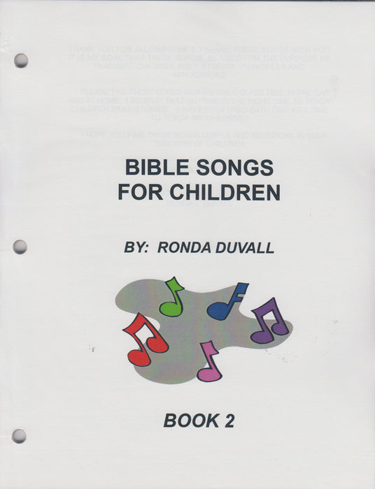 Bible Songs Book 2