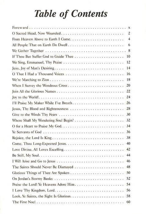 Table of Contents: Sample