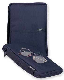 Bible Cover - Canvas Thinline Navy - XLG