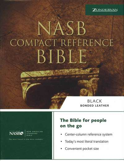 NAS Compact Reference Bible - Black Bonded Leather