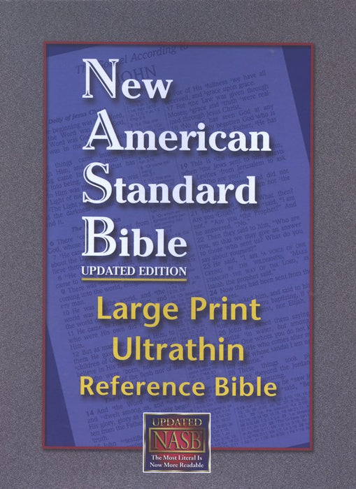NASB Ultrathin Large Print Reference Bible, Black Genuine leather
