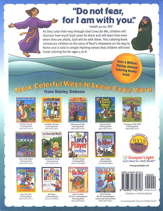 God Cares For Me Coloring Book (Paul's Shipwreck)
