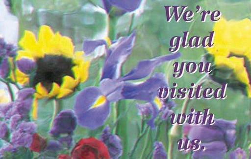 Postcard We're Glad You Visited With Us