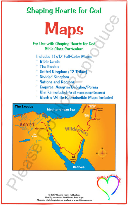 Shaping Hearts Old Testament Map Set