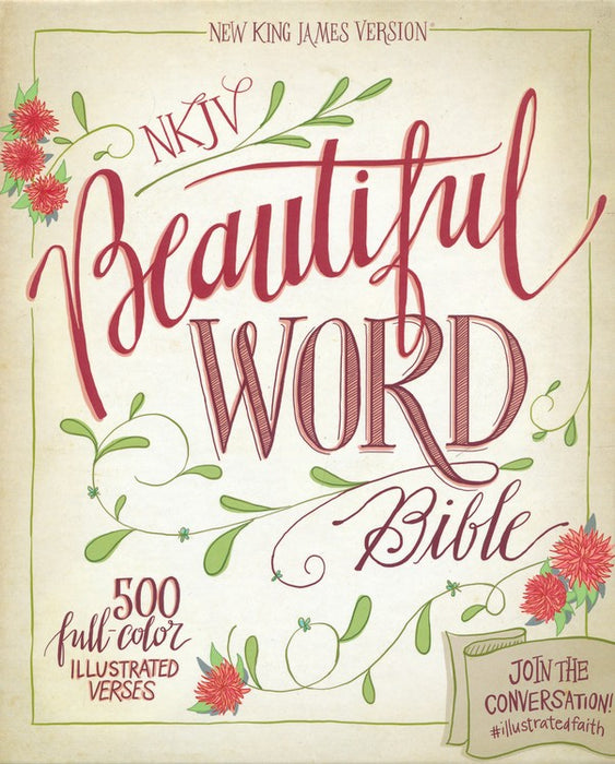 NKJV Beautiful Word Bible Tan/Blue DuoTone