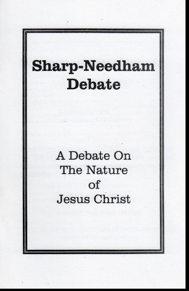 Sharp-Needham Debate