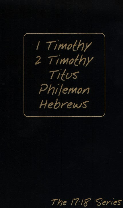 Journible: 1 & 2 Timothy, Titus, Philemon, Hebrews