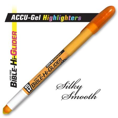 Accu-Gel Bible Hi-Glider Highlighter, Orange