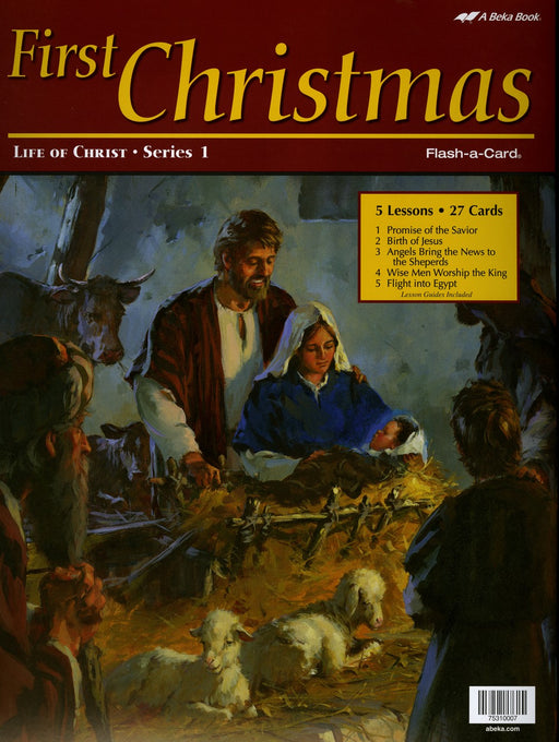 First Christmas (Life of Christ Series 1) - A Beka Flash-A-Cards