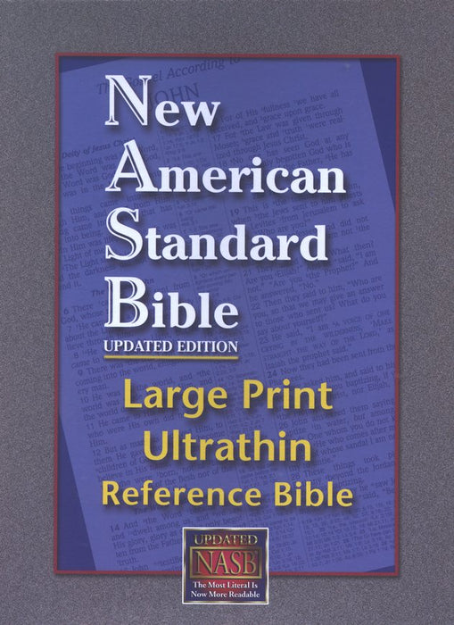 NAS Large Print UltraThin Reference Bible - Black Bonded Leather