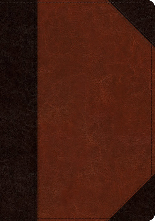 ESV Large Print Wide Margin Bible Brown/Cordovan