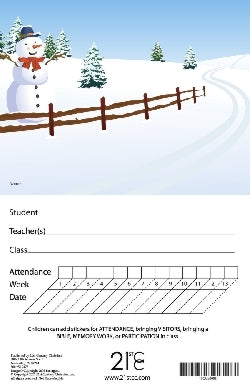 Winter Scene Attendance Card