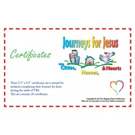 Journeys for Jesus - Certificates