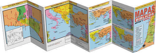 Mapas Biblicos Antes Y Ahora Folleto (Then & Now Bible Maps Pamphlet)